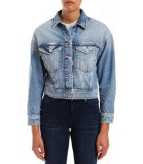 women's mavi jeans rosa crop denim jacket