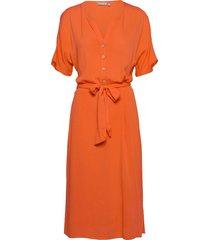 frjasofty 6 dress knälång klänning orange fransa
