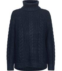 lid knit turtleneck polotröja blå kari traa