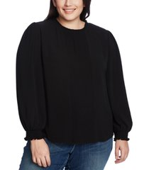 cece plus size ruffled pintucked top