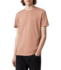 men's allsaints tonic slim fit crewneck t-shirt, size medium - brown