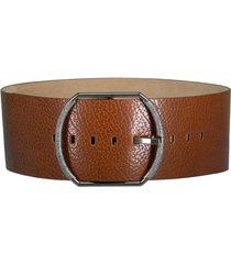 wide leather buckle belt