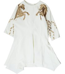 chloé white sequin embroidered dress