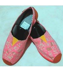 zapatillas boweipeiqi con estampado rosa