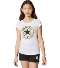 converse camiseta lemon print chuck taylor patch white