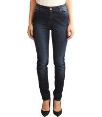 calça versatti skinny cintura alta azul