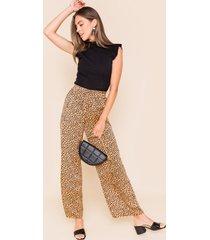 women's lara leopard pants in leopard by francesca's - size: 3x