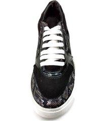 zapatilla negra plata picas shoes