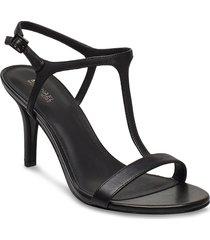 arden mid sandal med klack svart michael kors shoes