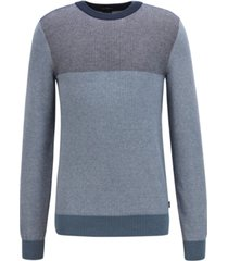 boss men's slim-fit colorblocked cotton sweater