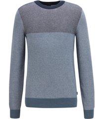 boss men's slim-fit colorblocked cotton sweater
