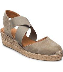 cele_21_ks sandalette med klack espadrilles grå unisa