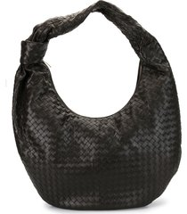 bottega veneta maxi bvjodie shoulder bag - brown