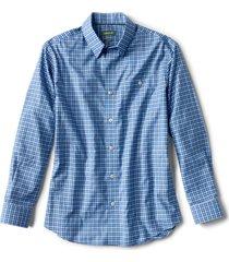 hidden button-down wrinkle-free comfort stretch shirt - tall