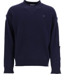 kenzo sweater with tiger crest patch