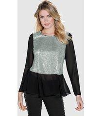 blouse amy vermont zwart::zilverkleur