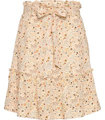 aria print kort kjol creme arnie says