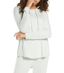 women's nordstrom hacci hoodie, size small - blue