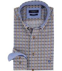 giordano regular fit blouse blauw geprint