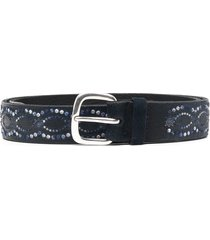 orciani embroidered belt - blue