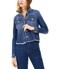 inc destructed trucker jean jacket, created for macy's