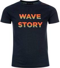 common heroes navy t-shirt fancy print voor jongens in de kleur