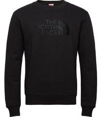 m drew peak crew sweat-shirt trui zwart the north face