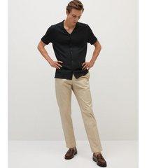 gebreid regular-fit overhemd