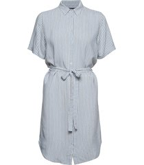 bertha nella shirt dress korte jurk blauw bruuns bazaar