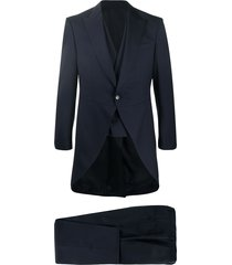 boss two-piece formal suit - blue