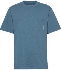 boxy stens tee t-shirts short-sleeved blå woodbird