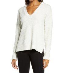 women's ugg cecilia v-neck sweater, size x-large - white