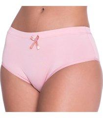 calcinha click chique biquãni cintura alta rosa - rosa - feminino - dafiti