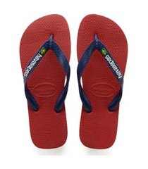 men's havaianas brazil flip flop, size 13 m - red