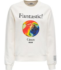 msgm organic cotton sweatshirt with print