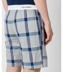 calvin klein men's modern cotton pyjama shorts - tinton plaid/grey heather - xl