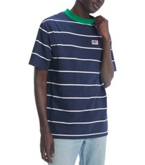 tommy hilfiger denim men's oversized elliot stripe t-shirt