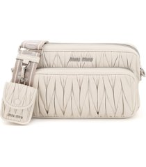 miu miu quilted camera bag with pouch