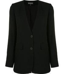 ann demeulemeester v-neck tailored blazer - black