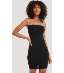 na-kd basic basic jersey bandeau dress - black