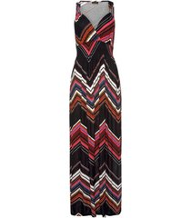 lange jurk lascana zwarte zig-zag zomer maxi jurk
