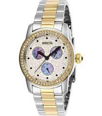 reloj invicta acero dorado modelo 284ri para dama, colección angel