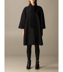 love moschino coat woolen cloth with sash
