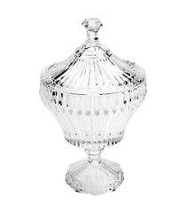 potiche decorativo lyor renaissance cristal de chumbo transparente