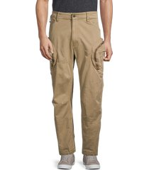 g-star raw men's rovid 3d airforce relaxed trousers - sahara - size 34 32