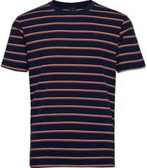 classic cotton-elastane crewneck tee t-shirts short-sleeved blå scotch & soda