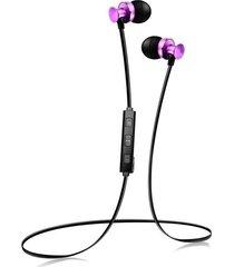 audífonos bluetooth deportivos, s4 sports inalambricos audifonos bluetooth manos libres  4.1 earbuds bajo estéreo con micrófono y auriculares para el sudor para sony iphone samsung (púrpura)