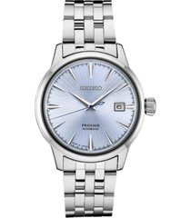 seiko men's automatic presage stainless steel bracelet watch 40mm
