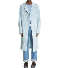men's dries van noten reggie cotton blend coat, size medium - blue