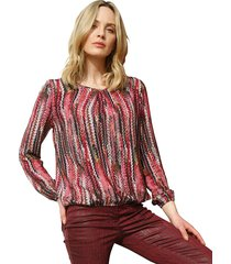 blouse amy vermont pink::roze::grijs